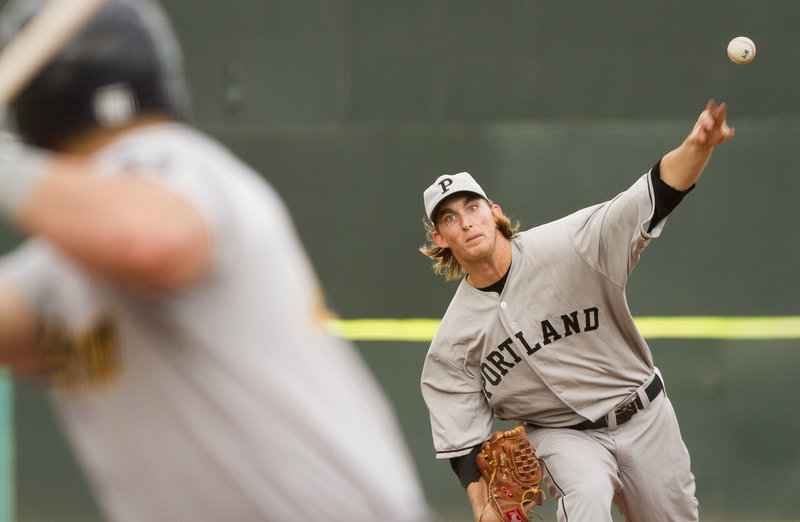 Sea Dogs starter Henry Owens surrendered two home runs in the first inning against Trenton, but settled down to last 5 2⁄3 innings, allowing six hits and striking out eight.