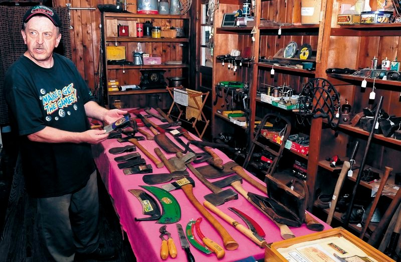 """Howard Hardy shows off the shop where he hopes to open antique store. """"Every day I could find a new tool, but is it worthy for my collection? Is it something that I don't have? Is it something that tells a story?"""" Hardy said."""