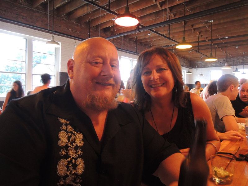 Adam Hodgkins and Patty Brown, of Portland, gave the Salvage BBQ a thumbs up.