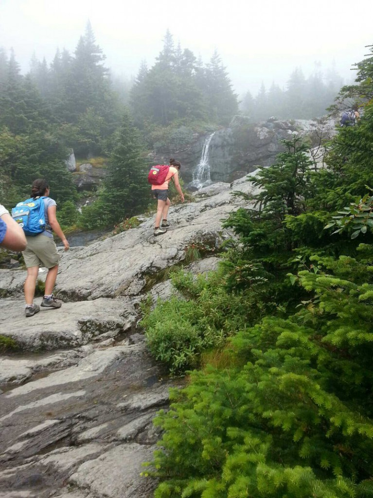 There are a lot of waterfalls – both big and small - to see on the Ammonoosuc Ravine Trail.