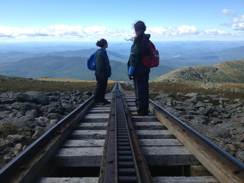 Traveling on the Gulfside Trail requires crossing the Cog Railway tracks. This trail offers some of the best views of the west side of the mountain.