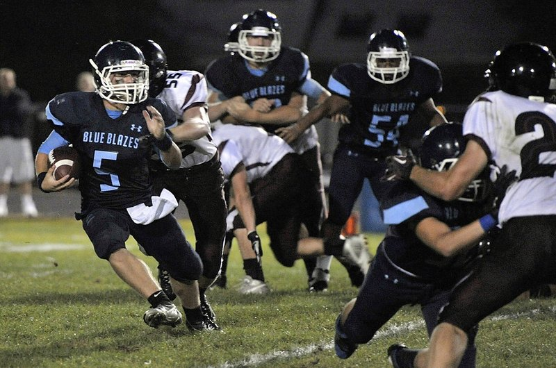 Kyle Heath is a threat as both a runner and a passer as the Westbrook High quarterback. The Blue Blazes figure to be strong in the skill positions as they hope for a return to the Western Class B playoffs. Westbrook fell in the regional semifinals last season.