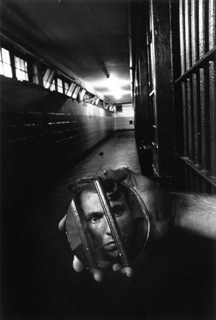 "From ""Mentor,"" Sean Kernan's ""Prisoner with Mirror,"" 1976."
