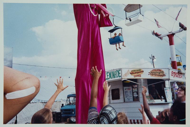 "From ""Mentor,"" ""Stilt Man, Ohio State Fair,"" 1985, by Renee Psiakis."