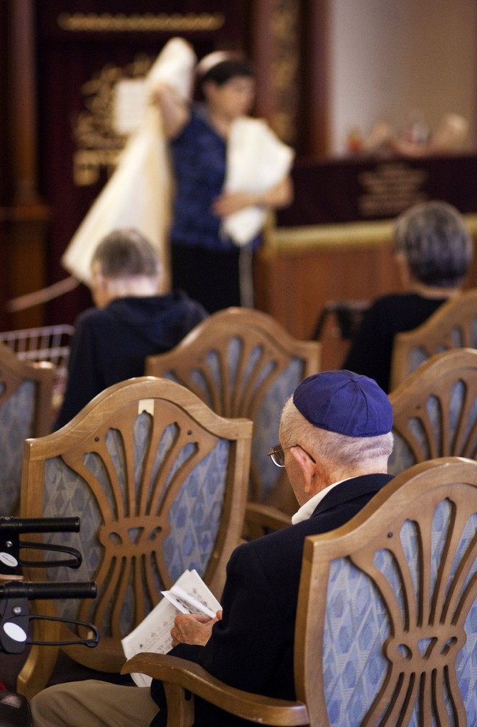 With the Jewish holiday of Rosh Hashana beginning on Wednesday, Rabbi Carolyn Braun performed a 30-minute ceremony at The Cedars retirement community in Portland on Wednesday, Sept. 4, 2013.