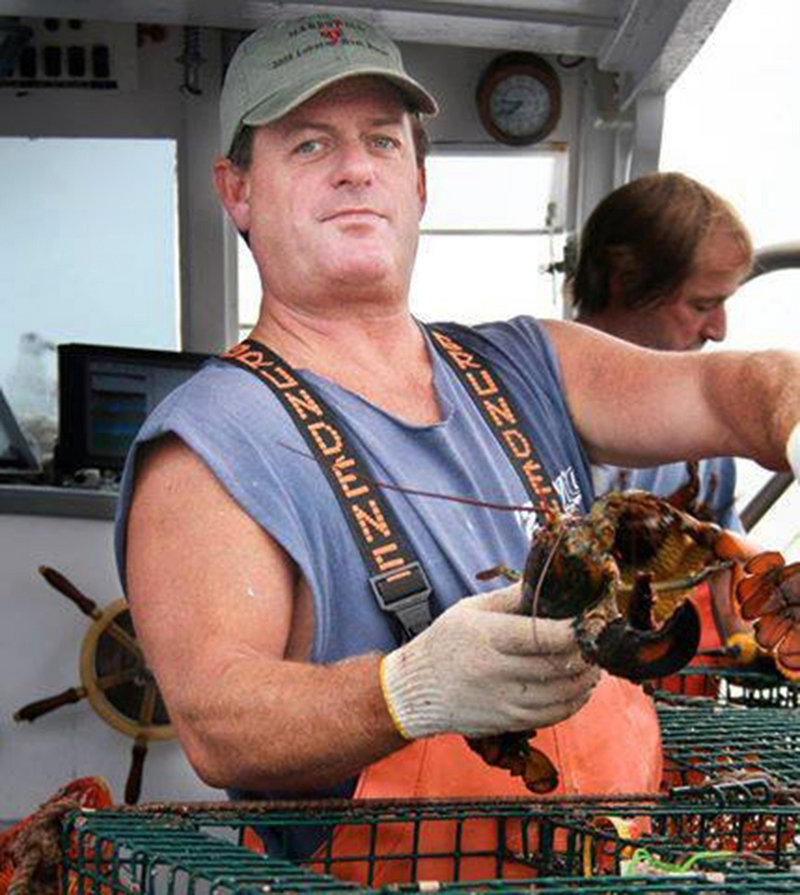 Fisherman Billy McIntire, shown at work in 2008, is presumed drowned after diving off his lobster boat late in the evening of Aug. 22, investigators say. His body has yet to be recovered.