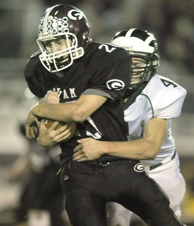 Last season Jon Woods was breaking away from Bonny Eagle players while running the ball for Gorham. This year, after transferring, he'll be one of the Scots.