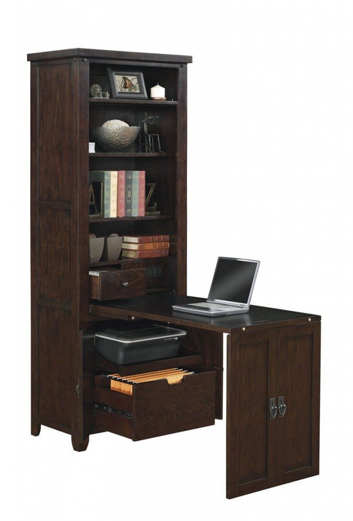 """This """"Murphy desk,"""" which slides out from bookshelves, is fromTwin StarInternational."""