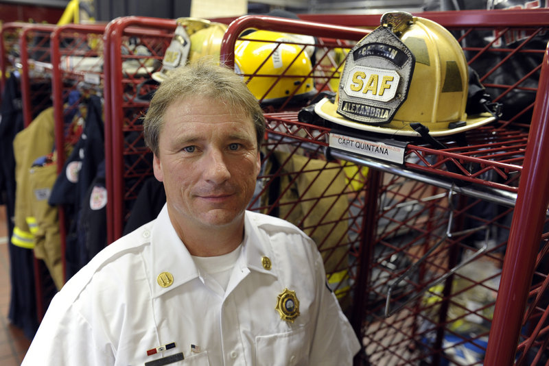 Capt. Scott Quintana, a Virginia firefighter who has chronic myeloid leukemia, was a first responder to the Pentagon on Sept. 11, 2001. He's unsure of what caused his illness, but has applied to the 9/11 victim fund.
