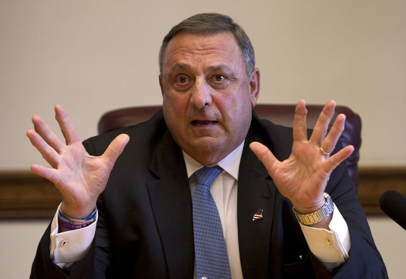 Gov. Paul LePage says a proposed oil pipeline from western Canada to New Brunswick would benefit the eastern United States.