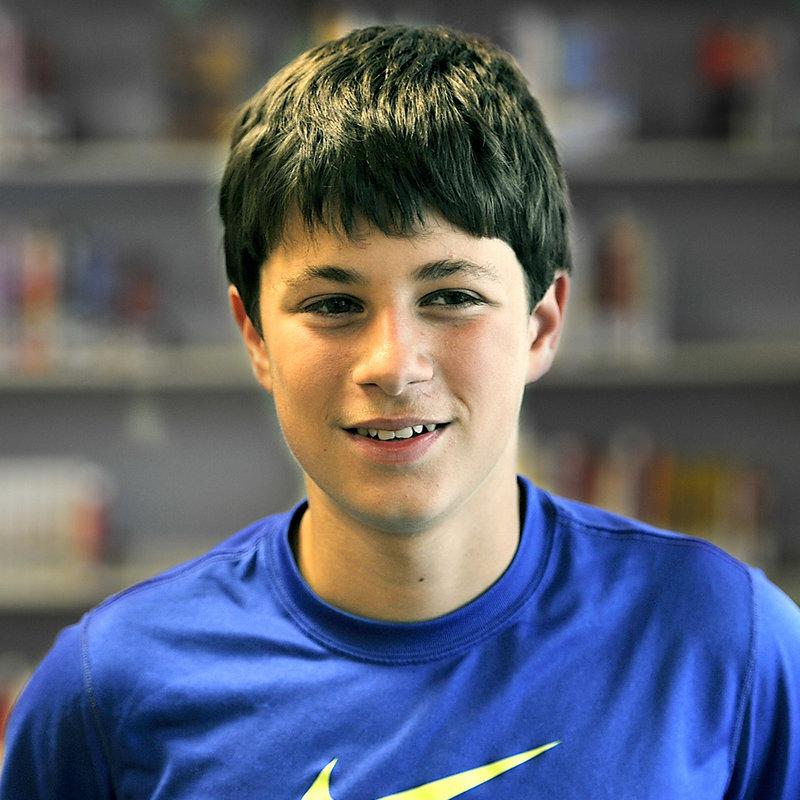 Joe Harrington, 13, a seventh-grade student of Karen MacDonald, tells why he likes his teacher.
