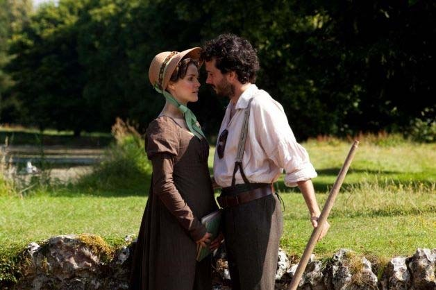"""Keri Russell and Bret McKenzie in a scene from """"Austenland."""