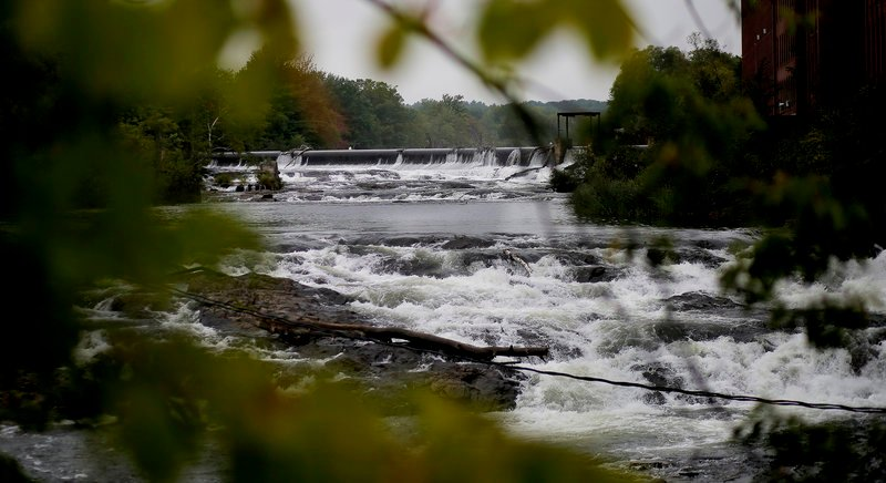 Westbrook hopes to obtain Sappi Ltd.'s hydroelectric dam, above, then remove it to create a waterfront and recreation area.