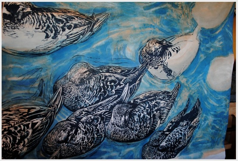 """""""I want to be true to these creatures,"""" says R. Keith Rendall of his subjects, including """"King Eiders."""""""