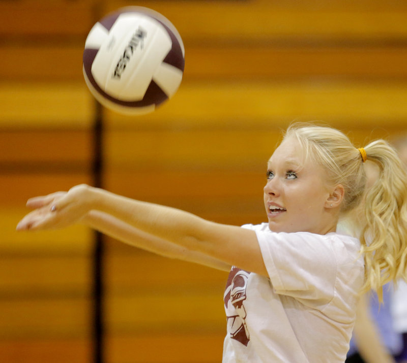 Mackenzie Foley is a senior at Thornton, as the team embarks on its first year as a varsity program. Greely became the first southern Maine team to win a state title in 2003.