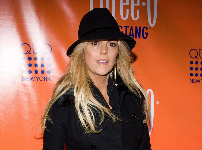Dina Lohan is shown in New York. She is charged with aggravated drunken driving.
