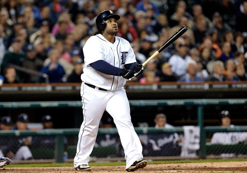 Prince Fielder connects for a two-run homer in the fourth inning of the Detroit Tigers' 6-3 victory over the Kansas City Royals on Friday.