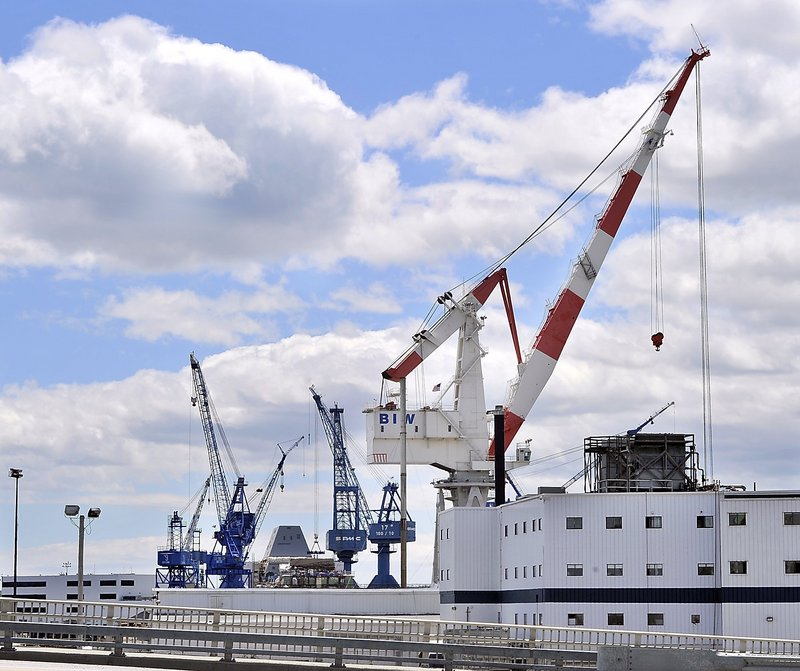 Sequestration-driven cuts in the defense budget could soon affect shipbuilding programs, like those carried out at Bath Iron Works.