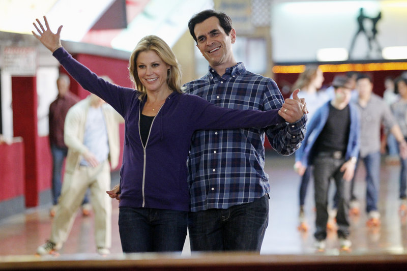 """Julie Bowen and Ty Burrell in """"Modern Family."""""""