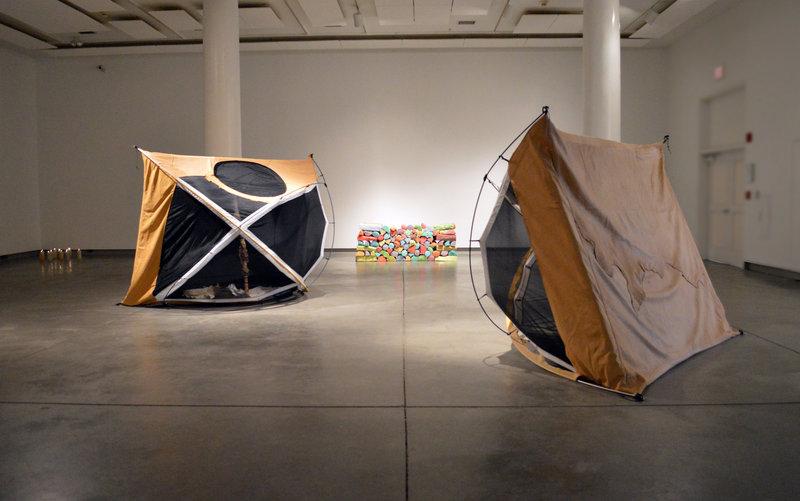 Gina Adams' tent installation.