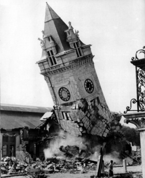 """The clock tower at Union Station is razed in 1961. Along with the destruction of the former railroad terminal, the sale of part of Congress Square Plaza may go down in history as one of the city's """"great mistakes,"""" a reader says."""