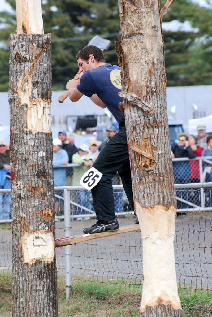 These days the Woodsmen's Field Day at Fryeburg Fair draws some 6,000 to 8,000 spectators.