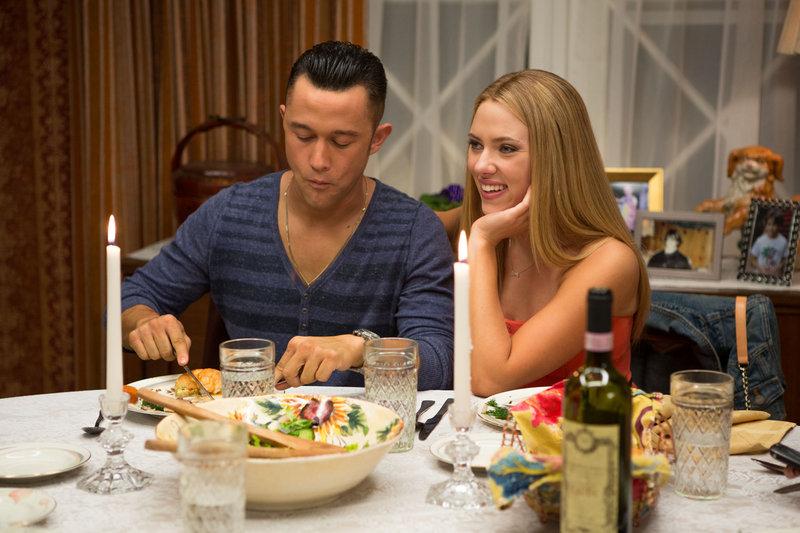 "Joseph Gordon-Levitt and Scarlett Johansson in ""Don Jon."""