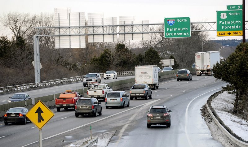 Changing federal law to allow per-mile tolls on state-operated stretches of interstate, like Interstate 295, above, would fund much-needed repairs by charging the people who actually use the roads.