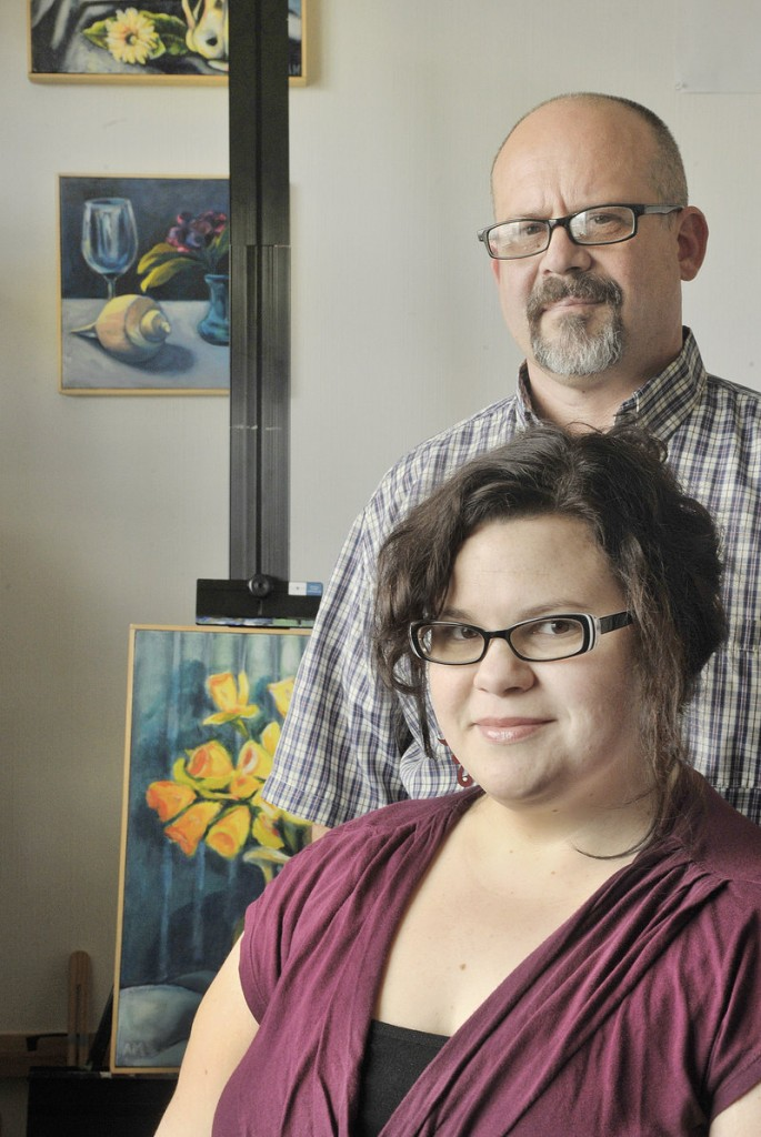 Artist Adria Moynihan Rusk and her husband, Bruce Rusk, are a middle-class family but haven't had good health insurance for years.
