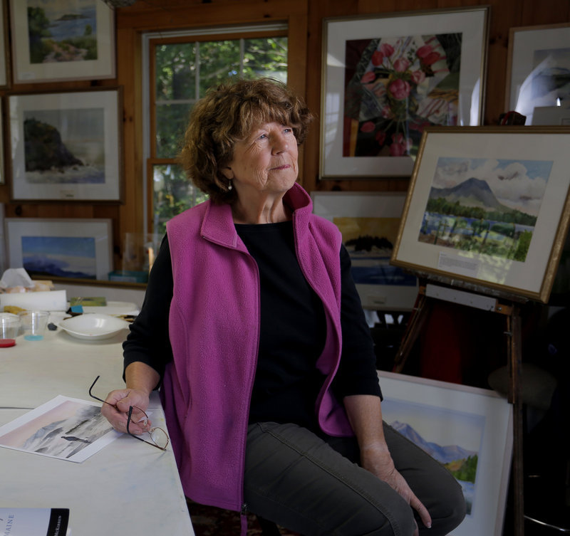 At home in her West Bath studio, Evelyn Dunphy discusses how Mt. Katahdin inspired her to be a painter at the advanced age of 55, and how she's still going strong 18 years later.