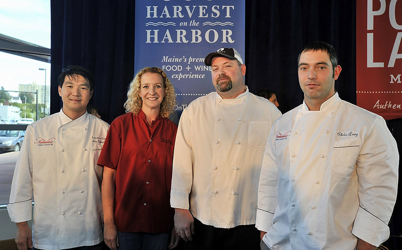 Maine Lobster Chef of the Year finalists, from left: Jon Gaboric from Natalie's in Camden; Shanna O'Hea from the Kennebunk Inn; Brandon Blethen from Robert's Maine Grill in Kittery; and Chris Long from Natalie's in Camden.