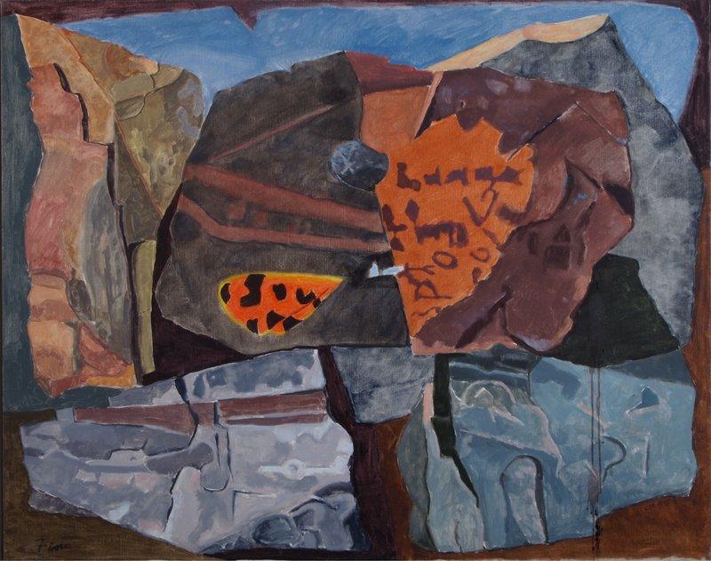 """""""Virgo Tiger,"""" oil on canvas by Joseph Fiore."""