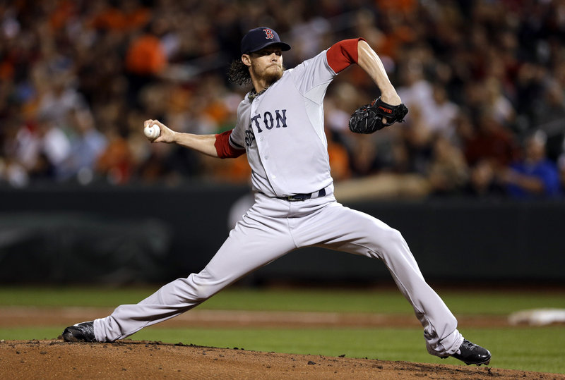 Clay Buchholz improved to 12-1 with seven solid innings Friday as Boston routed Baltimore to move closer to best overall in the American League.