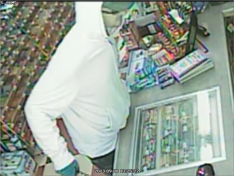 Video surveillance at the Checkout Market in Glenburn captured this image of the robber Sunday afternoon.