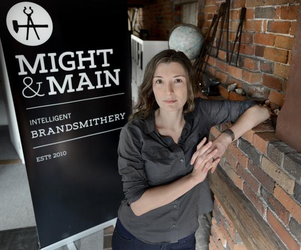Arielle Walrath runs Might & Main, a business branding and design firm that recently won a marketing award.