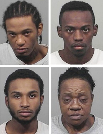 Top row: Robert Coombs, left, and Gabriel 'Deacon' Williams; bottom row: Micheel Fleury, left, and Denise Parham.