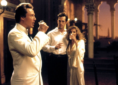 """Christopher Walken, left, Rupert Everett and Natasha Richardson in """"The Comfort of Strangers,"""" which one wouldn't necessarily think would belong on a list of scary movies, but …"""