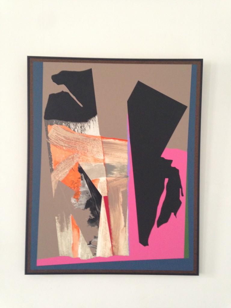 "Manning's ""Painting #488,"" collage, acrylic on Masonite."