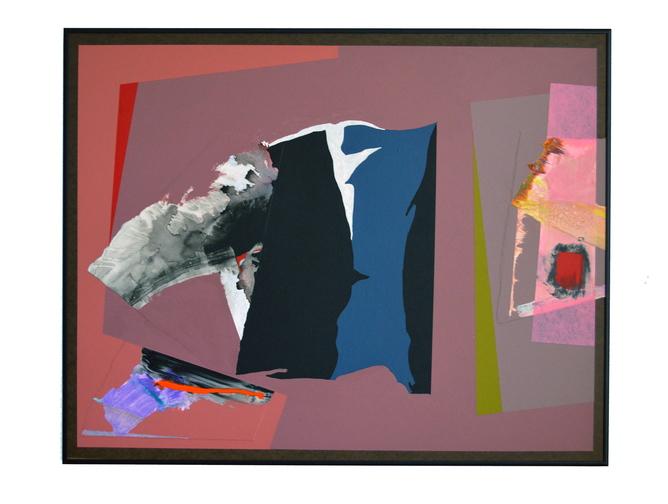 "Manning's ""Painting #454,"" collage, acrylic on Masonite."
