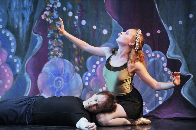 """Veronica Druchniak has the title role and Glenn Davis is the Prince in Maine State Ballet's """"The Little Mermaid."""""""