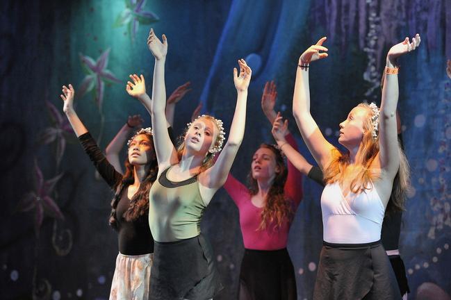 The Mermaids, from left: Kallee Gallant, Veronica Druchniak, Casey Ryan, and Julia Lopez.