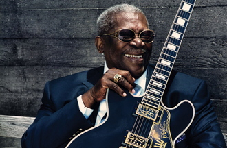 B.B. King, the legendary blues artist, performs on Oct. 24 at Merrill Auditorium in Portland.