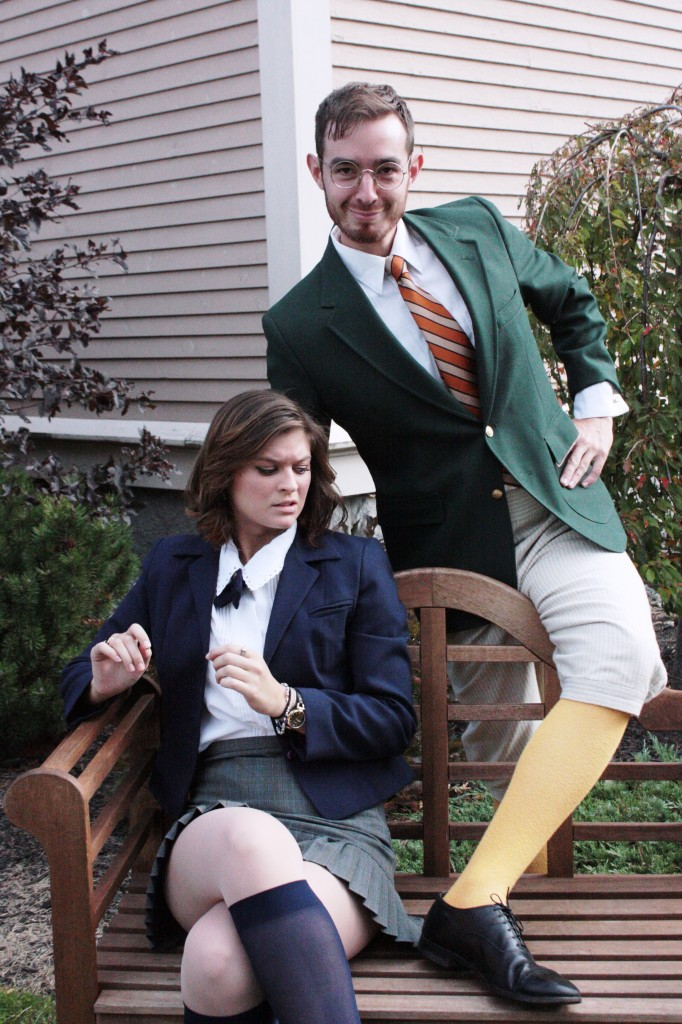"Rylee Doiron as Olivia and Max Waszak as Malvolio in Theater at Monmouth's upcoming ""Twelfth Night"" tour."
