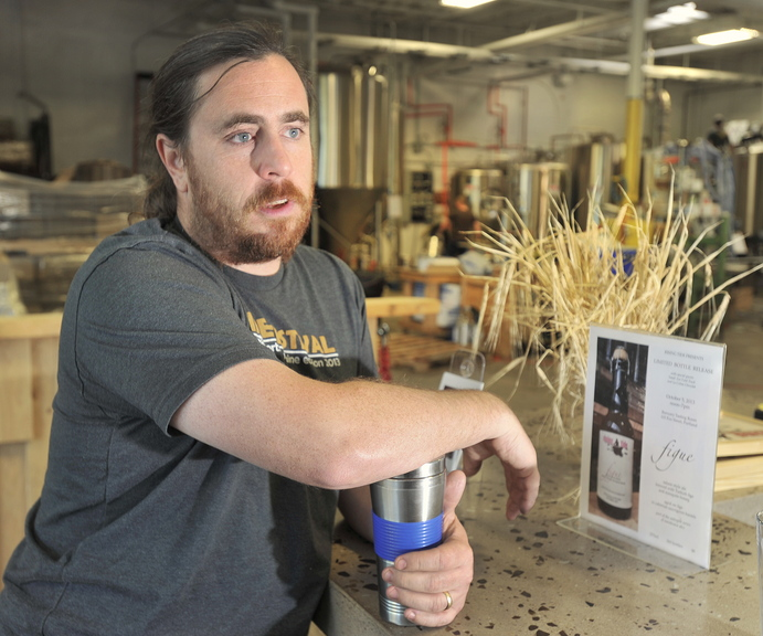Nathan Sanborn, who along with his wife, Heather, are owners of the Rising Tide Brewery in Portland.