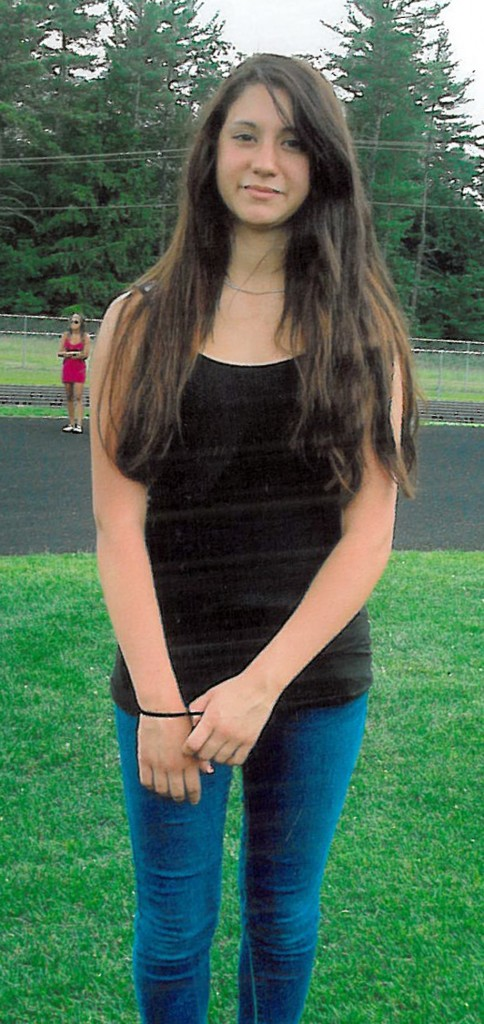 This photo released by Conway, N.H., police shows 15-year-old Abigail Hernandez of North Conway, N.H.