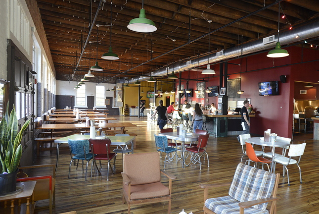 The new Salvage BBQ in the old Portland Architectural Salvage Building shows off owner Jay Villani's penchant for creating spaces that feel intimate regardless of size.