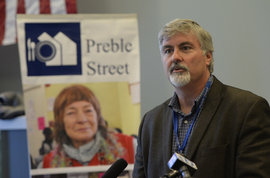 """Mark Swann, executive director of Preble Street: """"We started hearing from our clients, mostly young women and girls, about horrific events in their lives, stories of being lured and coerced into prostitution, having no choice, being forced to trade their bodies for drugs and money."""""""