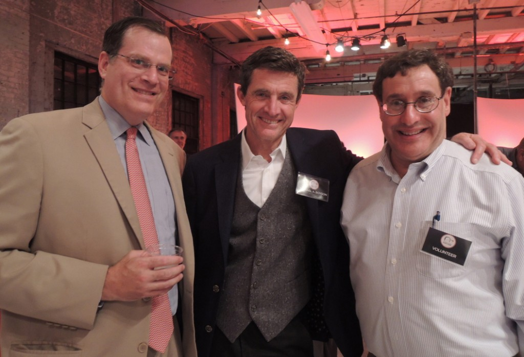 Portland Ovations board member Sigmund Schutz, president of the board Michael Boyson, and volunteer Gary Koocher.
