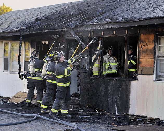 The fire at the Itsa Good Motel on Route 1 in Scarborough started in a room where a couple and their two children stayed. The family was displaced by the fire.
