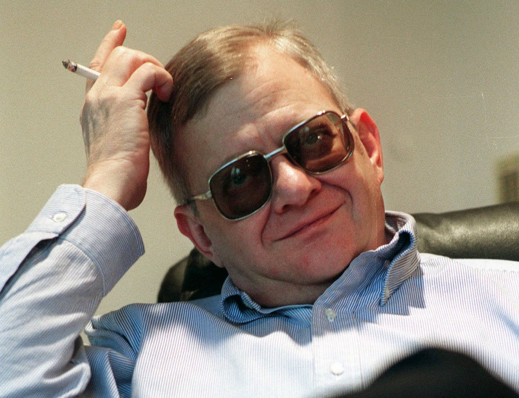 In this Feb. 4, 1998 file photo, writer Tom Clancy appears at his home in Calvert County, Md. Clancy, the estselling author of more than 25 fiction and nonfiction books for the Penguin Group, died on Oct. 1, 2013 in Baltimore, Md. He was 66. (AP Photo/Vince Lupo)